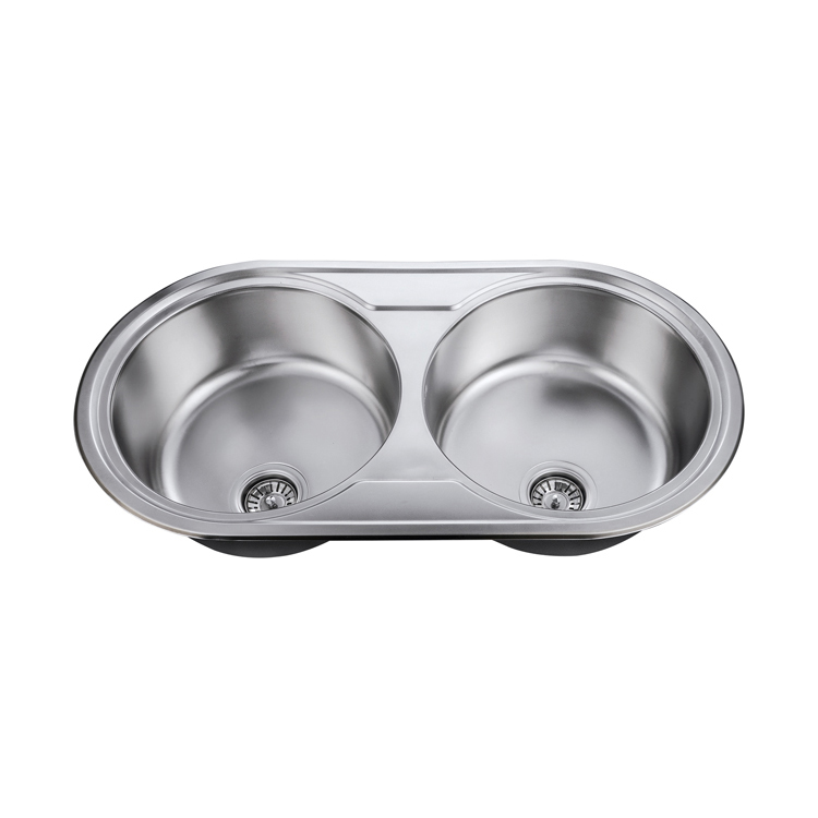 simple modern design stainless steel double bowl round kitchen sink buy stainless steel double bowl round kitchen sink double bowl sink double