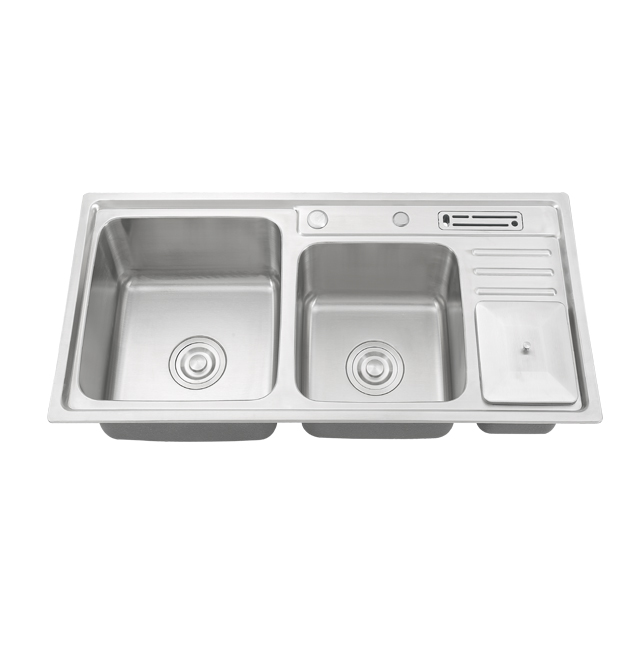 ds 9245 freestanding utility stainless steel washing kitchen sink with waste bin and knife box buy utility sink stainless steel washing