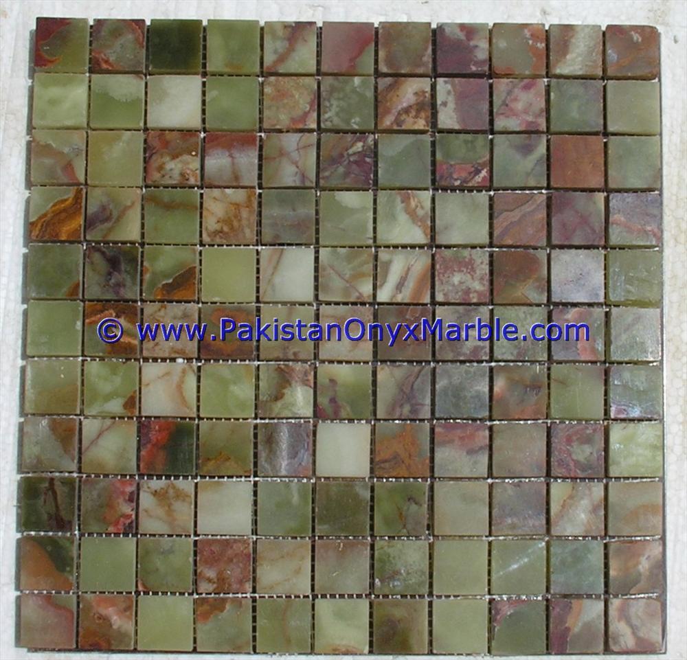 1 x1 exotic green onyx stone polished mosaic tile sheet marble granite 100 pure onyx buy green onyx mosaic tiles green mosaic tiles mosaic tiles