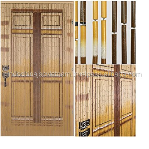 natural bamboo beaded door curtains vietnam bamboo painted door curtain view hanging door beads curtain viettime craft product details from