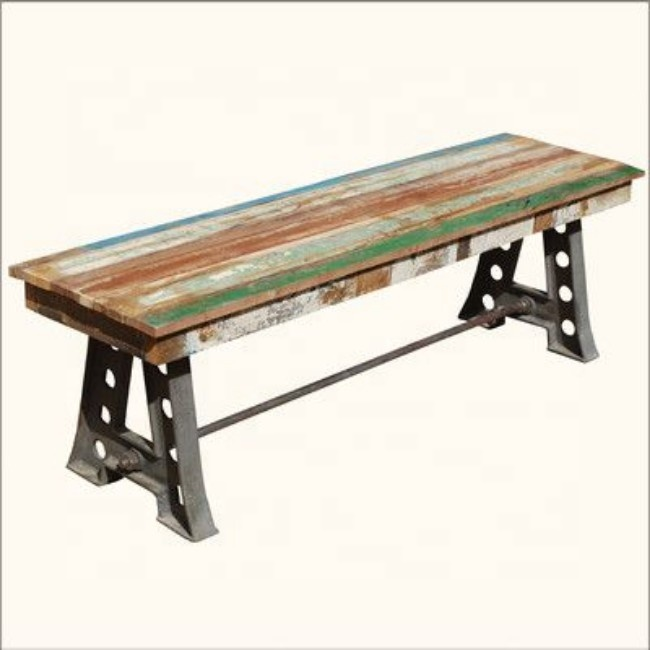 industrial vintage cast iron metal reclaimed wood patio bench buy wrought iron patio benches cast iron and wood garden bench decorative metal