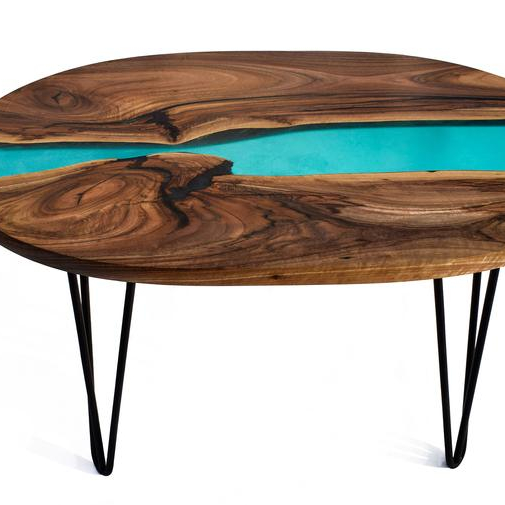 table basse ovale en resine epoxy finition au noyer industrielle bois naturel cardigan buy industrial epoxy resin coffee table epoxy wooden top and