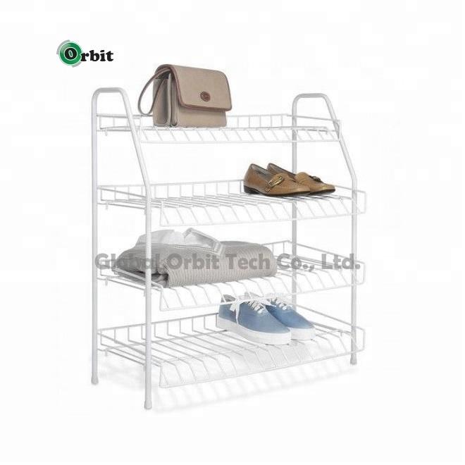 4 tier vinyl coated wire white shoe rack storage stand organizer shelf boot tidy buy 4 tier metal shoe rack 4 tier metal shoe rack home furniture