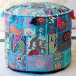 Buy Indian Bohemian Patchwork Pouf Cover Vintage Indian Foot Stool Bean Bag Floor Pillow Pouf Buy Fabric Pouf Cushion Covers Home Stool Ottoman Indian Decorative Ottomans Product On Alibaba Com