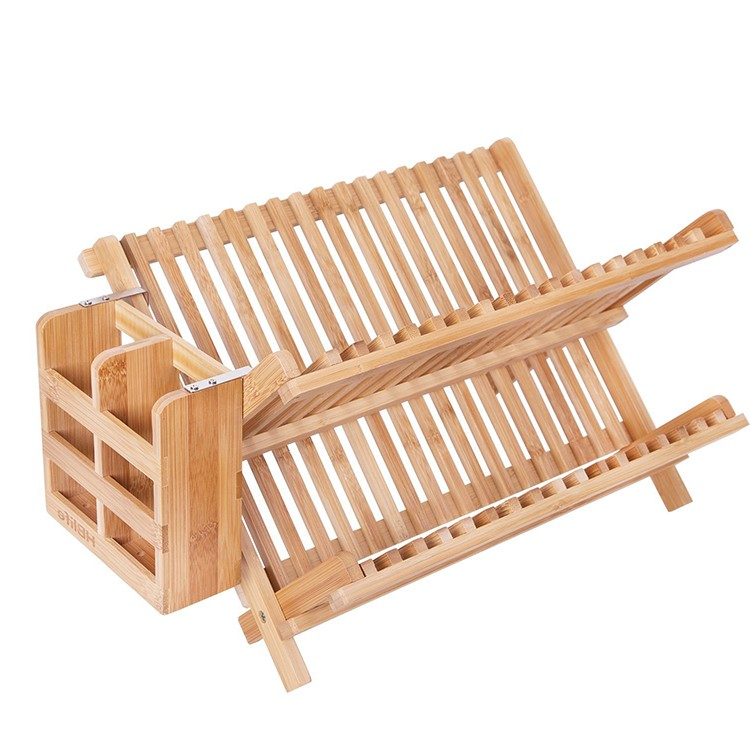 bamboo dish rack foldable dish drying rack collapsible dish drainer wooden plate rack from vietnam ms rachel 84896436456 buy wooden dish