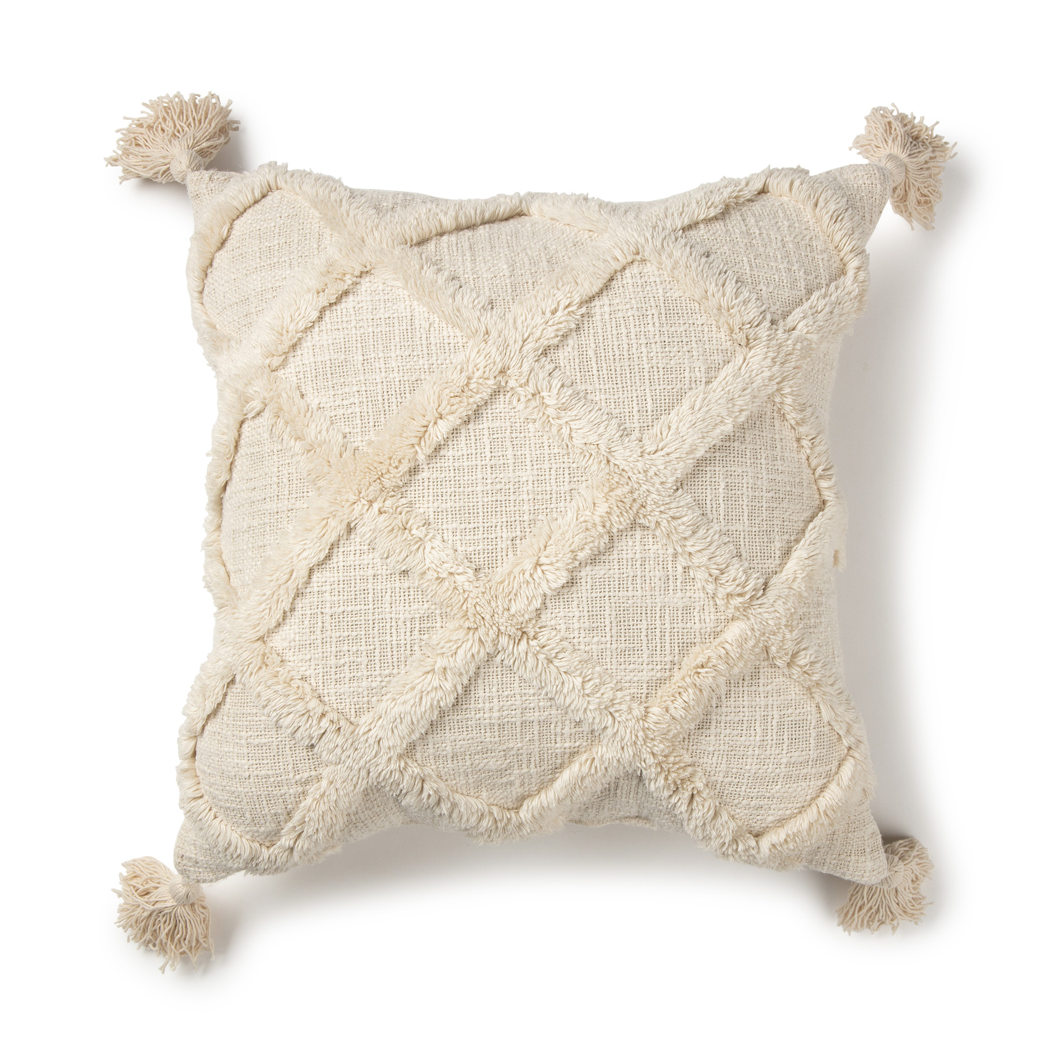 2020 new design tufted cushion cover knitted sofa cushion cover knit tufted pillow case with tassel buy popular model style cotton canvas tufting