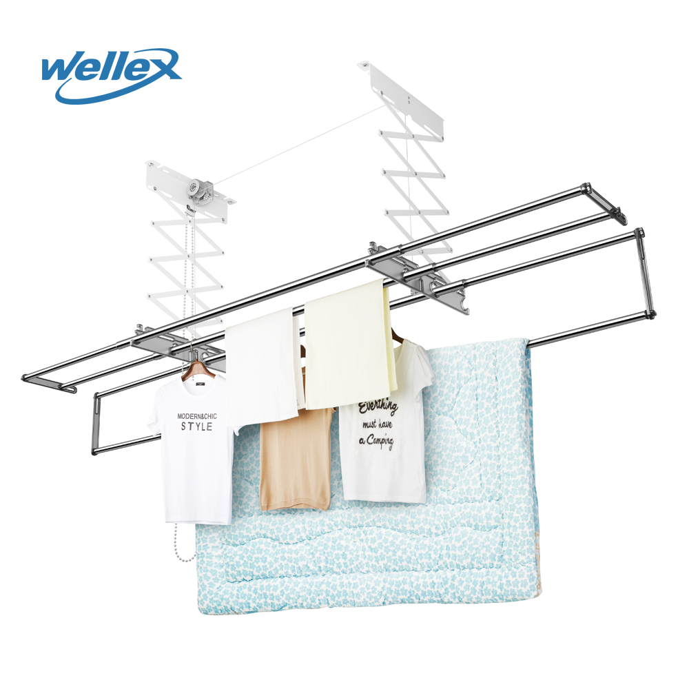 wellex ch4190 semi automatic clothes drying rack slide bar eco friendly foldable clothing drying hanger clothes rack hanger buy clothes hanger with