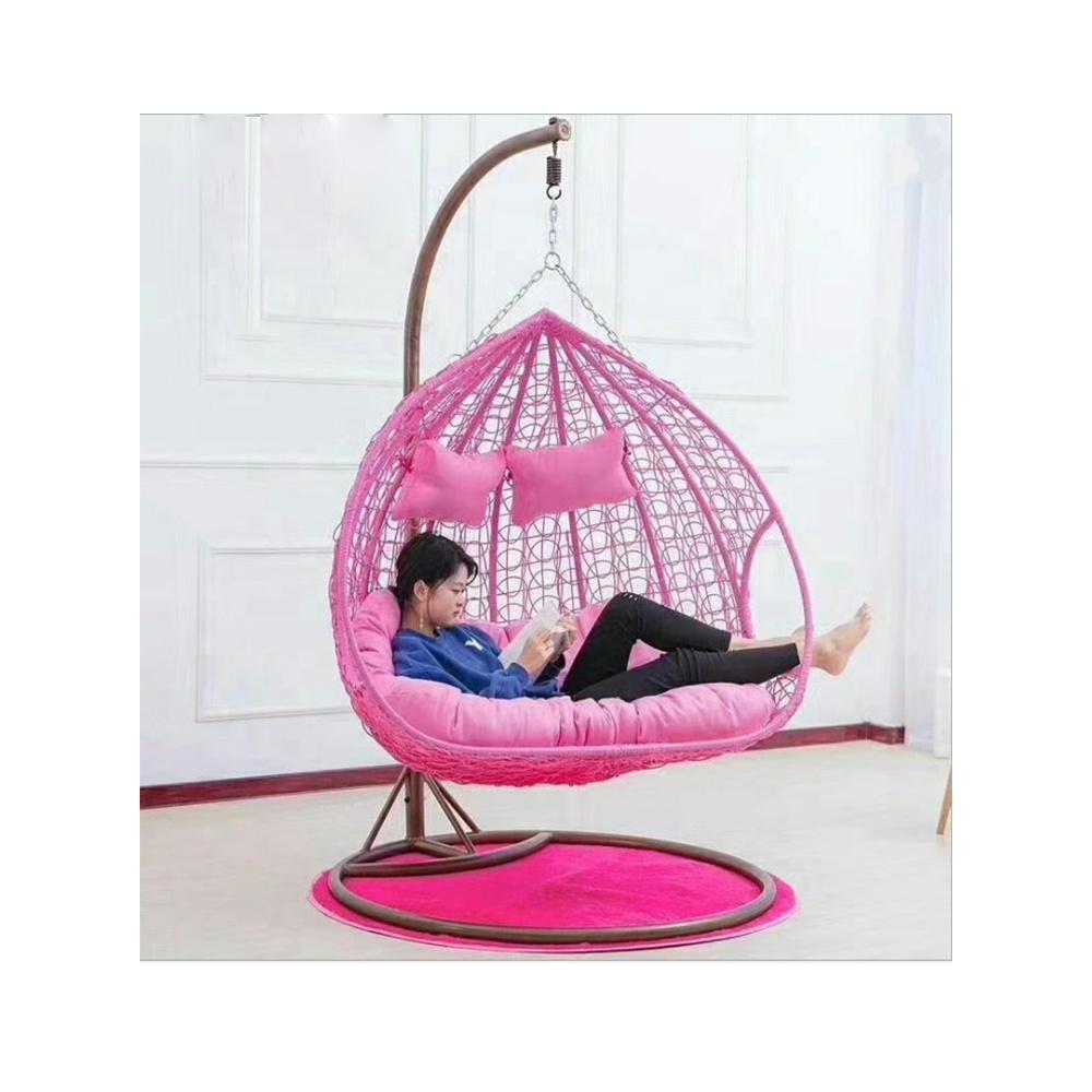 silla columpio para patio exterior con soporte de metal asiento doble para jardin columpio colgante en forma de huevo buy outdoor patio swings chair