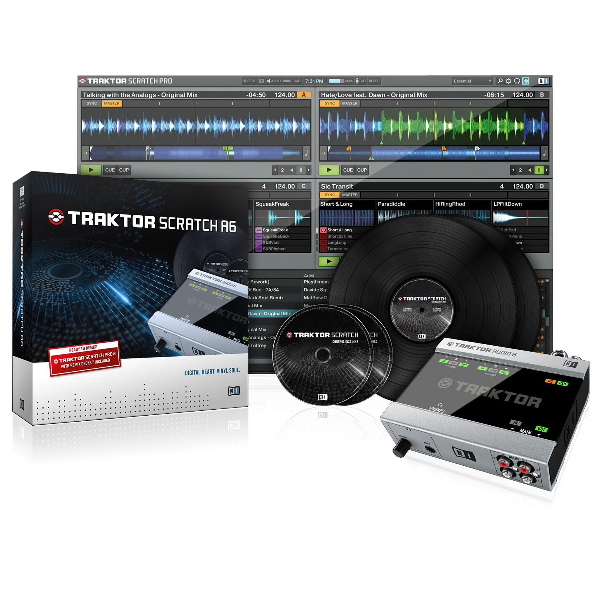 hight resolution of dj controller native instruments traktor scratch a6
