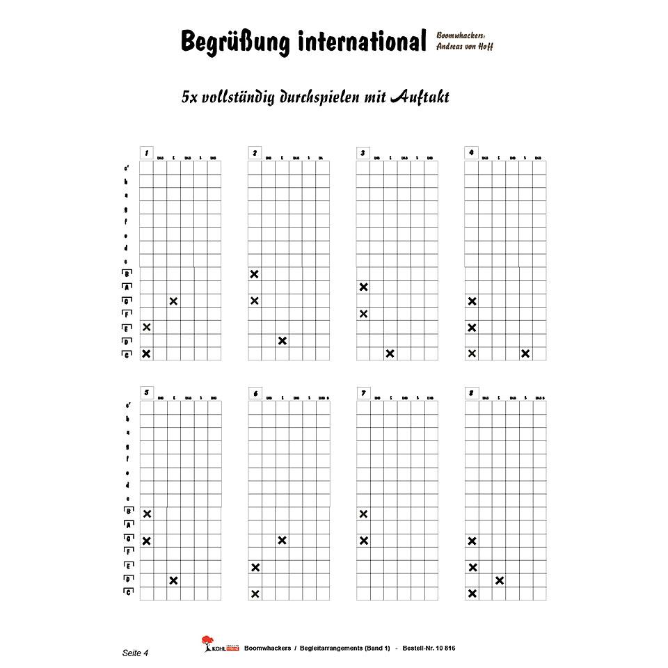 Kohl Boomwhackers Begleitarrangements Band 1 « Lehrbuch