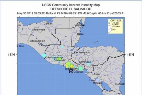 Sismo en El Salvador. Foto: EFE