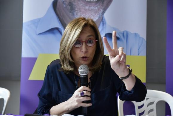 Mónica Bottero, candidata a la vicepresidencia por el Partido Independiente. Foto: Fernando Ponzetto.
