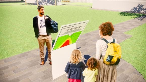 Semáforo solar para prevenir los efectos de la radiación. Foto: El País