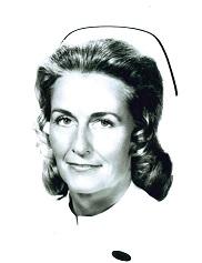 Marilynn Campbell in a nursing uniform