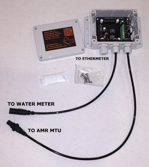 small resolution of radio read filter wall mount version outfitted with nicor connector option