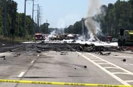 Military Plane crashed outside Savannah GA