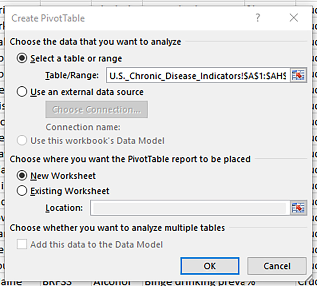 Creating A Simple Pivottable In Excel