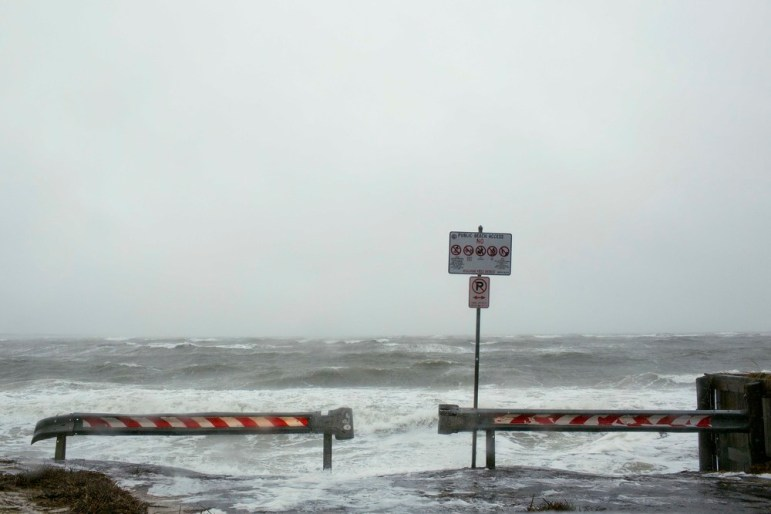 The sea surged during Hurricane Joaquin. Photo by Rich-Joseph Facun.