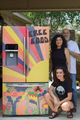 Ángela García and her parents volunteered to get the RGV Free Fridge in McAllen Park—a project that fed people throughout the summer before the local government forced them to stop.