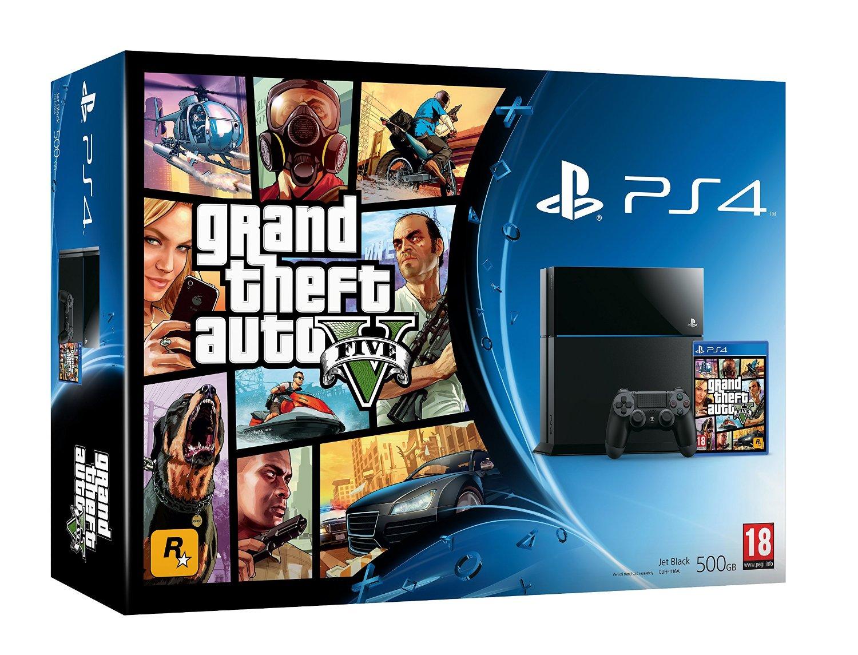 Buy Playstation 4 Console 500GB - Grand Theft Auto V (GTA 5) Bundle