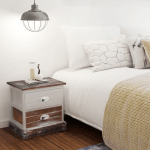 Buy Vidaxl Shabby Chic Bedside Cabinets 2 Pcs Brown And White