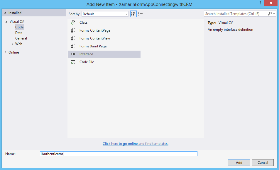 Connecting Xamarin form Application with Dynamics CRM