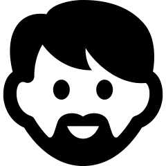Bearded Guy Icon