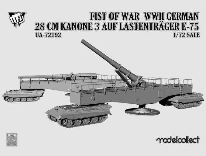 UA72192 Fist of War WWII German 28CM Kanone 3 Auf Lastenträger E-75