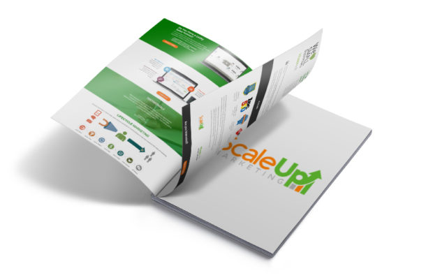 an image of a scaleup marketing book on flip pages