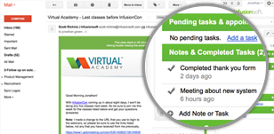 screenshot image of Marketing Automation Infusionsoft CRM Software Singapore indicating email integration