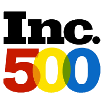 a badge from ``Inc. 500`` as one of the fastest growing company