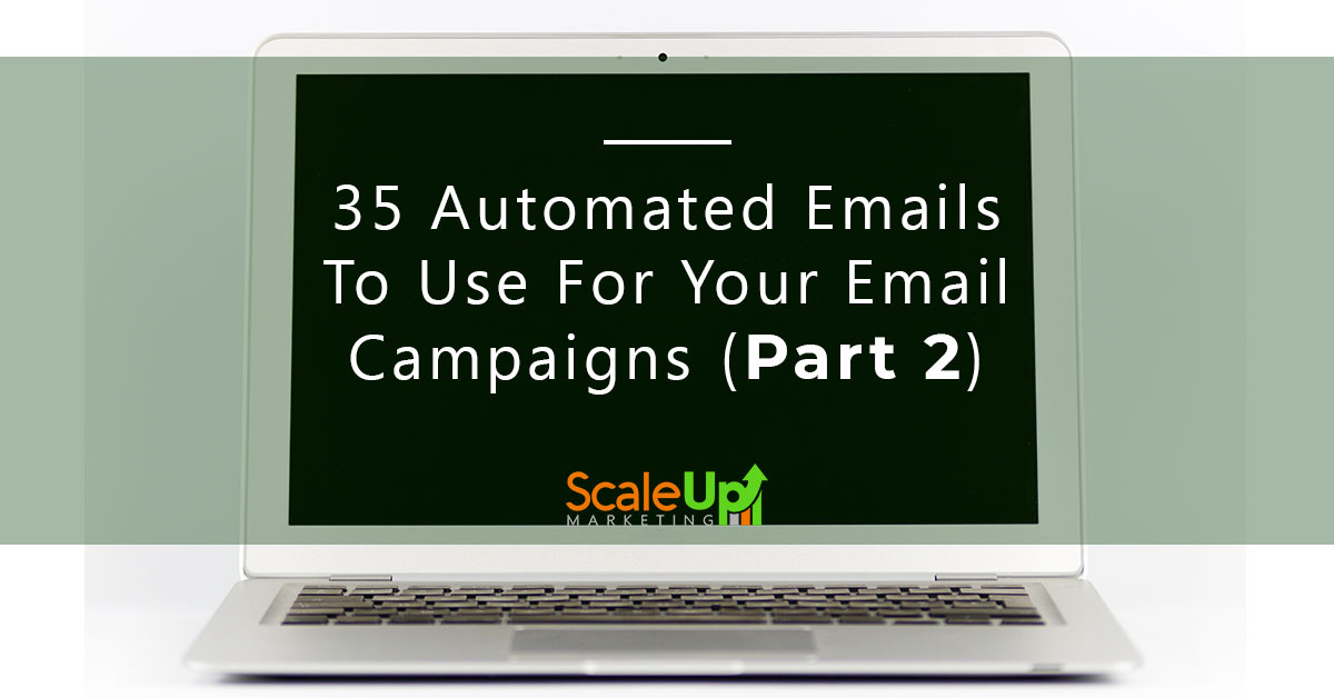 "image banner of a blog ""35 automated emails to use your email campaigns"