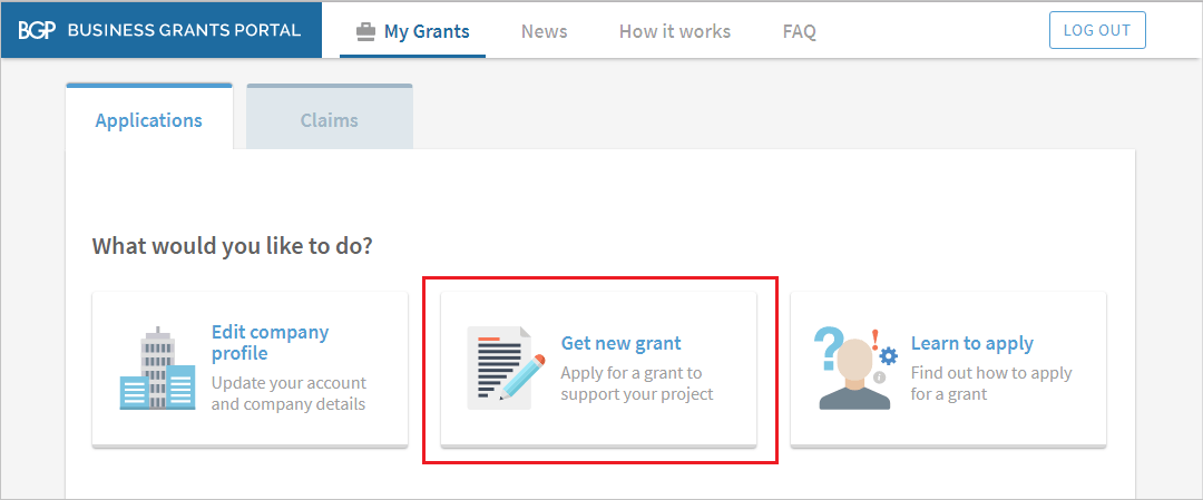 Application for a grant to your project