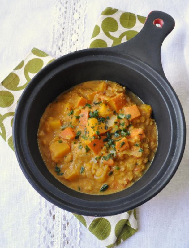 Lentilles Corail à L'indienne : lentilles, corail, l'indienne, C'est, Curry, Indien, Potimarron, Lentilles, Corail