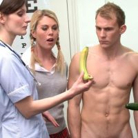 CFNM – Bad Boy's Punishment – William Gets A Banana Up His Arse!