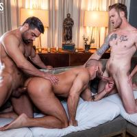 Ganged, Banged, And Pounded - Jessie Colter Takes Wagner Vittoria and Shawn Reeve's Raw Cocks