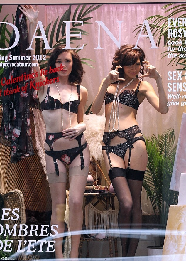 Agent Provocateur Hires Scantily Clad Models To Model From