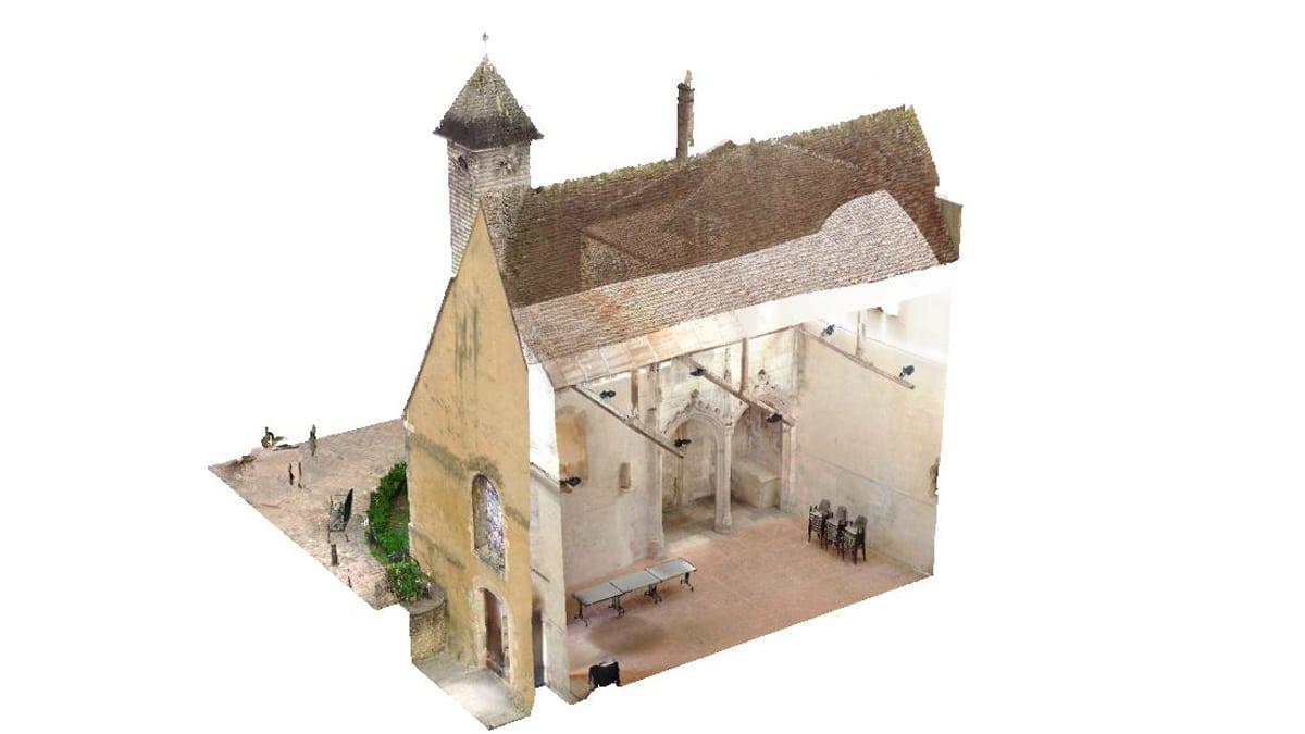 Coupe d'une chapelle