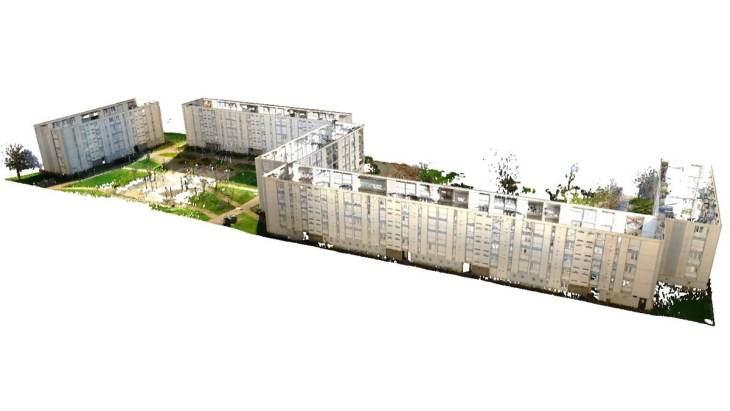 Nuage de point d'un logement locatif - Vue large