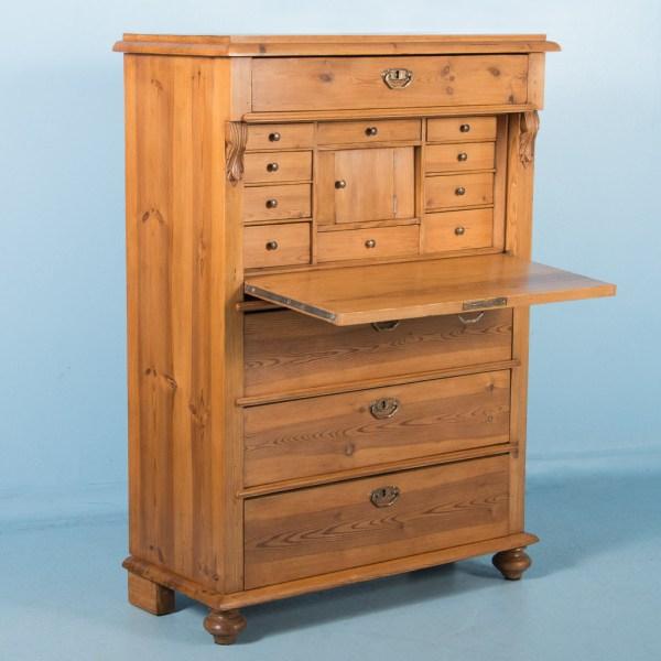 Antique Pine Secretary Desk