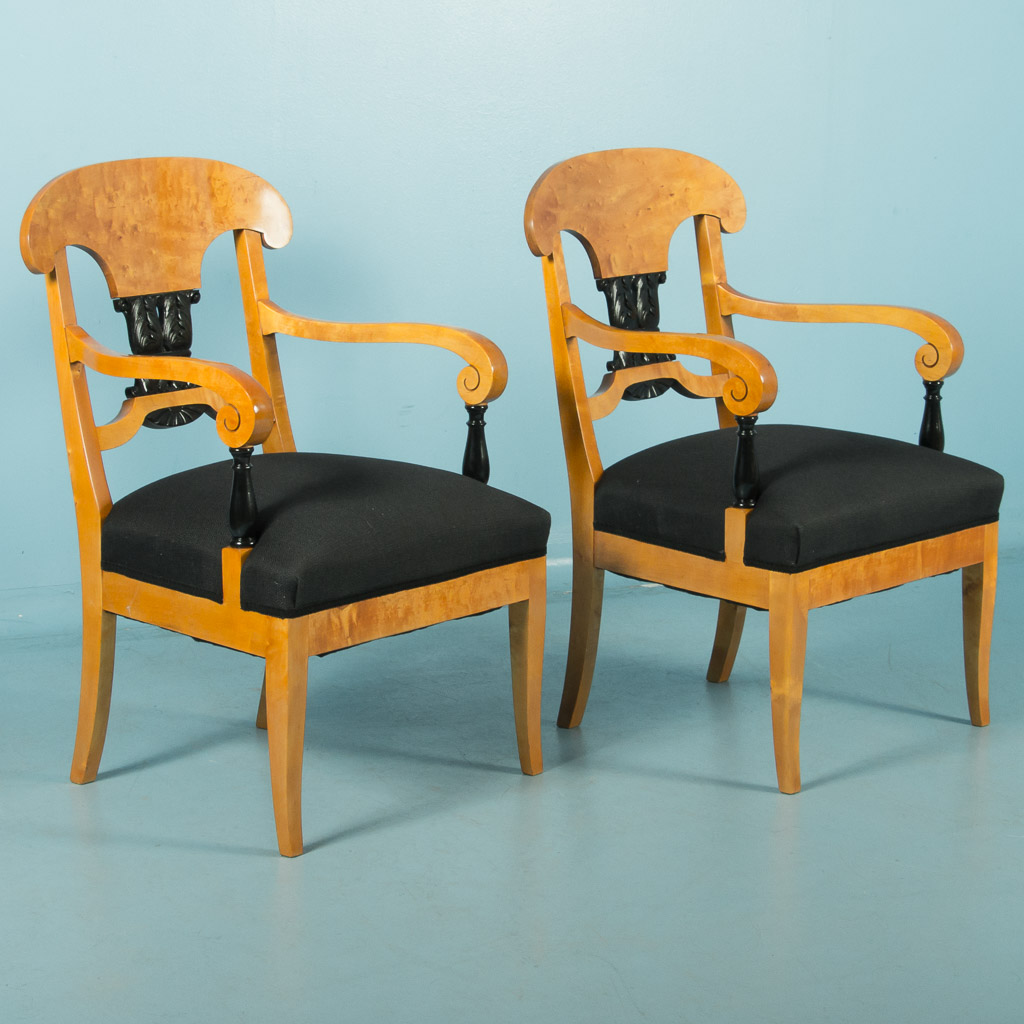 antique chairs ebay hanging swing chair without stand pair of biedermeier birch arm from sweden