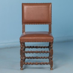 Barley Twist Chair Office Indonesia Set Of Six 19th Century Antique Danish Dining