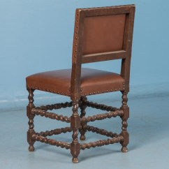 Barley Twist Chair Push Back Set Of Six 19th Century Antique Danish Dining