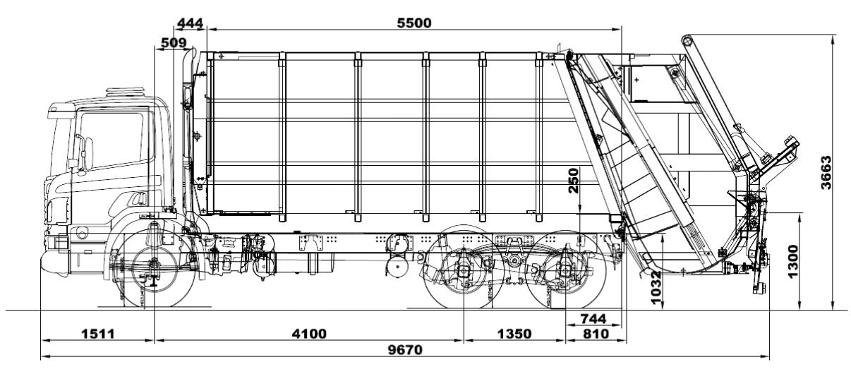 Мусоровоз Scania Скания P360 CB6X4HSZ c кузовом ZOELLER