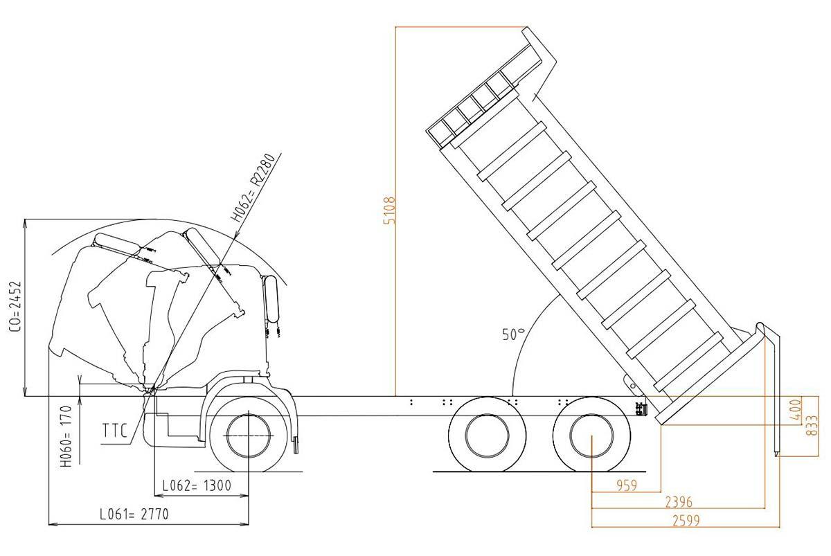 Cамосвал Скания (Scania) P400 CB6X4EHZ OFF ROAD c кузовом