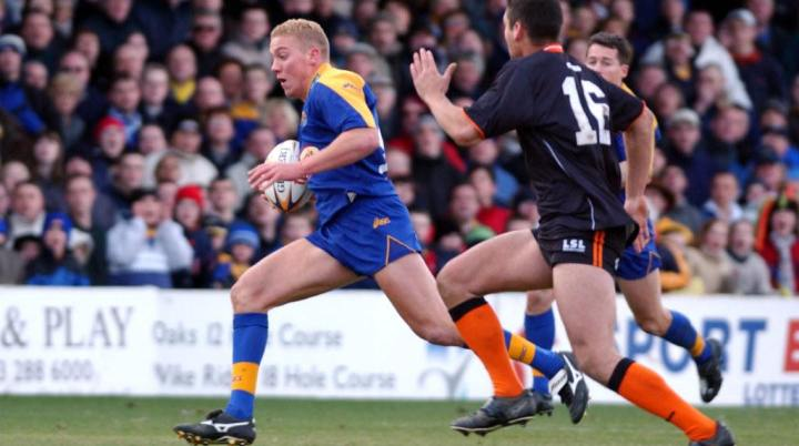 Andy Kirk, playing for Leeds Rhinos in 2002. Scandalous Freedom Book.