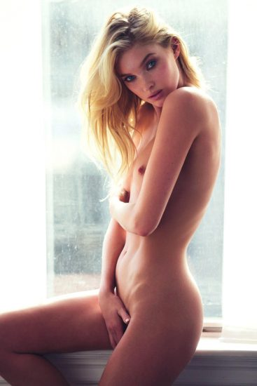 elsa hosk nipple peek and her hand over her pussy