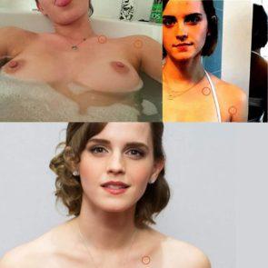 Emma Watson naked boobs in bathtub