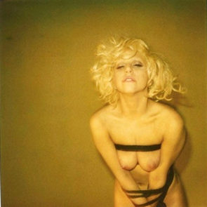 Lady Gaga naked tits in bondage
