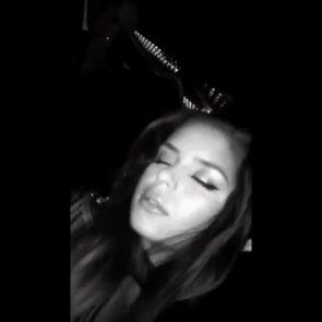 Demi Rose drunk